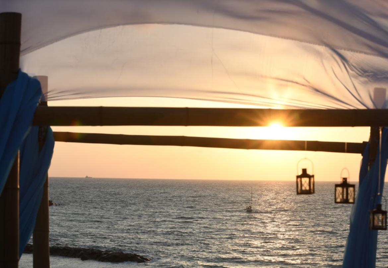החופה ממוקמת על מצוק המשקיף לנוף ים עוצר נשימה וייחודי (צילום: רותם ברק)