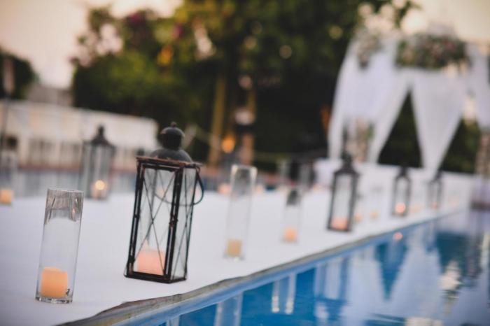 עיצוב חתונה עם נרות