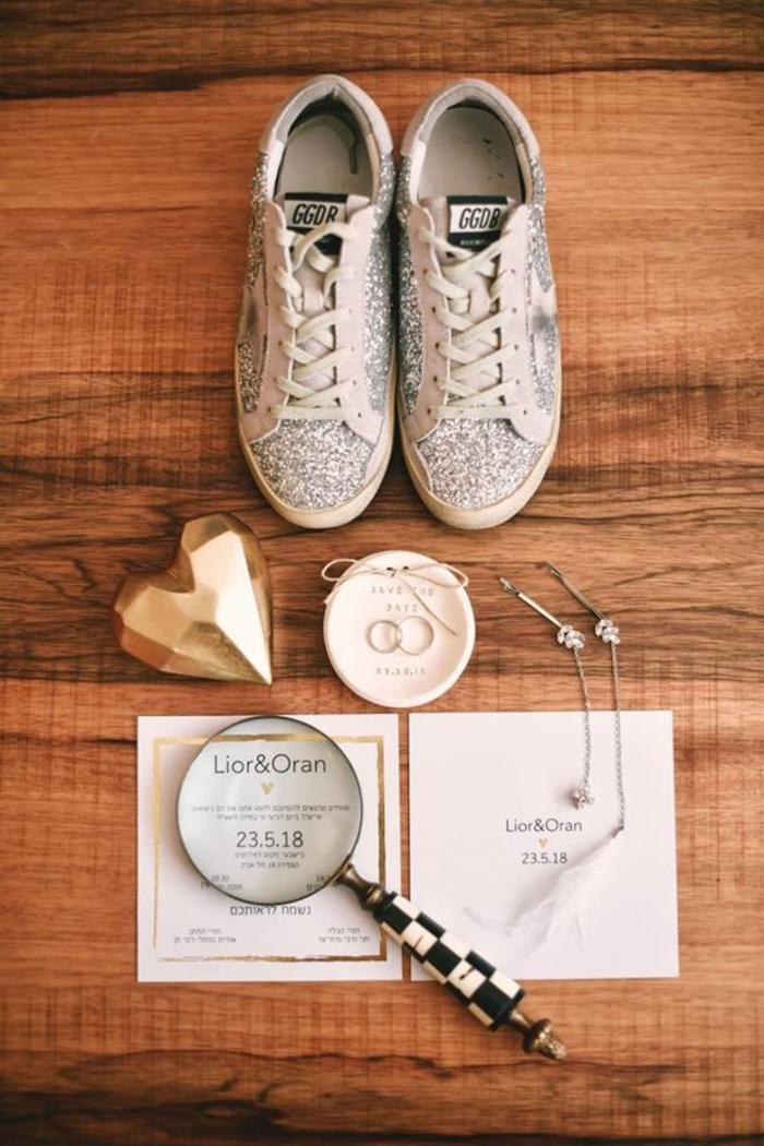 נעלי כלה מנצנצות