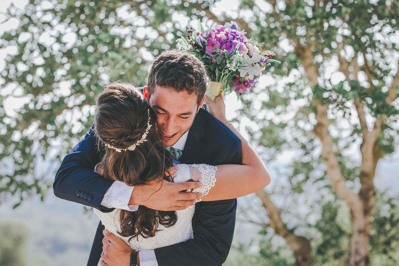 רגע המפגש ביום החתונה